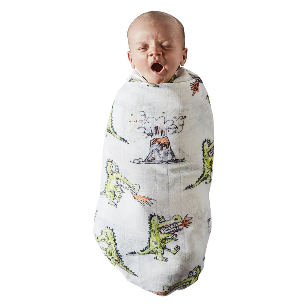 Kip & Co - Dino Roar Bamboo Swaddle
