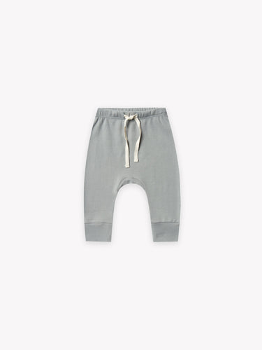 Quincy Mae - Drawstring Pant - Dusty Blue