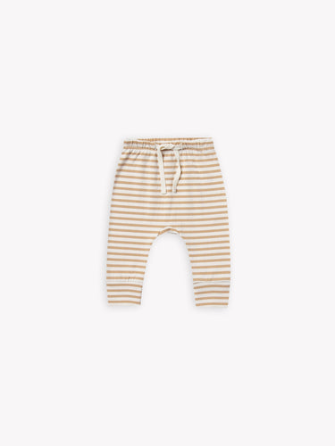 Quincy Mae - Drawstring Pant - Honey Stripe