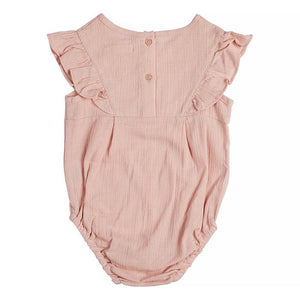 Miann & Co- Dusty Pink Embroidered Bodysuit