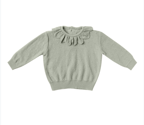 Quincy Mae - Petal Knit Sweater Sage