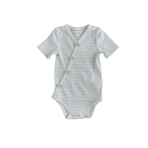 Two Darlings - Fawn Stripe Short Sleeve Bodysuit