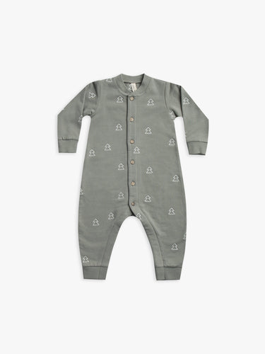 Quincy Mae Fleece Jumpsuit - Eucalyptus