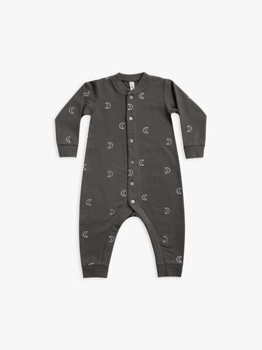 Quincy Mae Fleece Jumpsuit - Coal