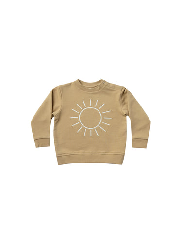 Quincy Mae Basic Fleece Sweatshirt - Honey