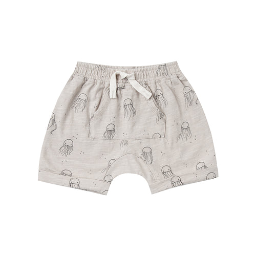 Rylee + Cru - Jelly Fish Front Pouch Short - Cloud