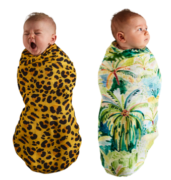 Kip & Co Colombo & Tarzan Bamboo Swaddle Set