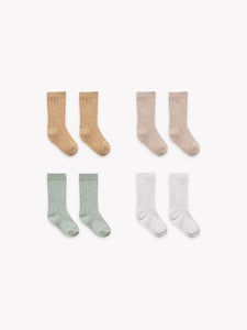 Quincy Mae - Socks 4 Pack Honey