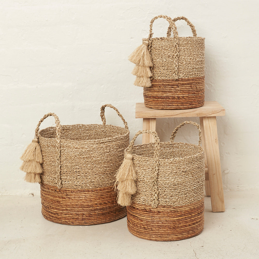 Anoki Tassel Basket - Medium