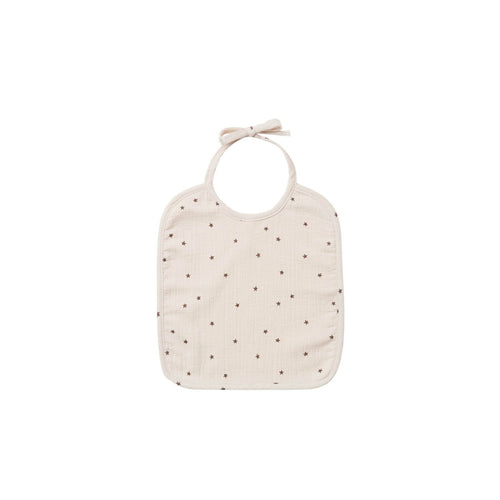Quincy Mae Woven Tie Bib - Natural/Star
