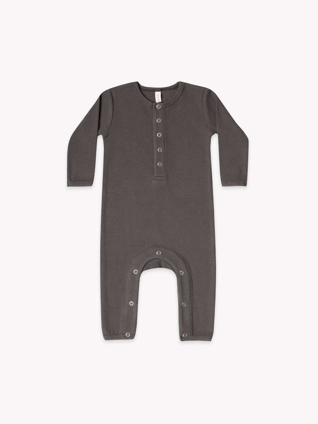 Quincy Mae - Ribbed Baby Jumpsuit - Coal