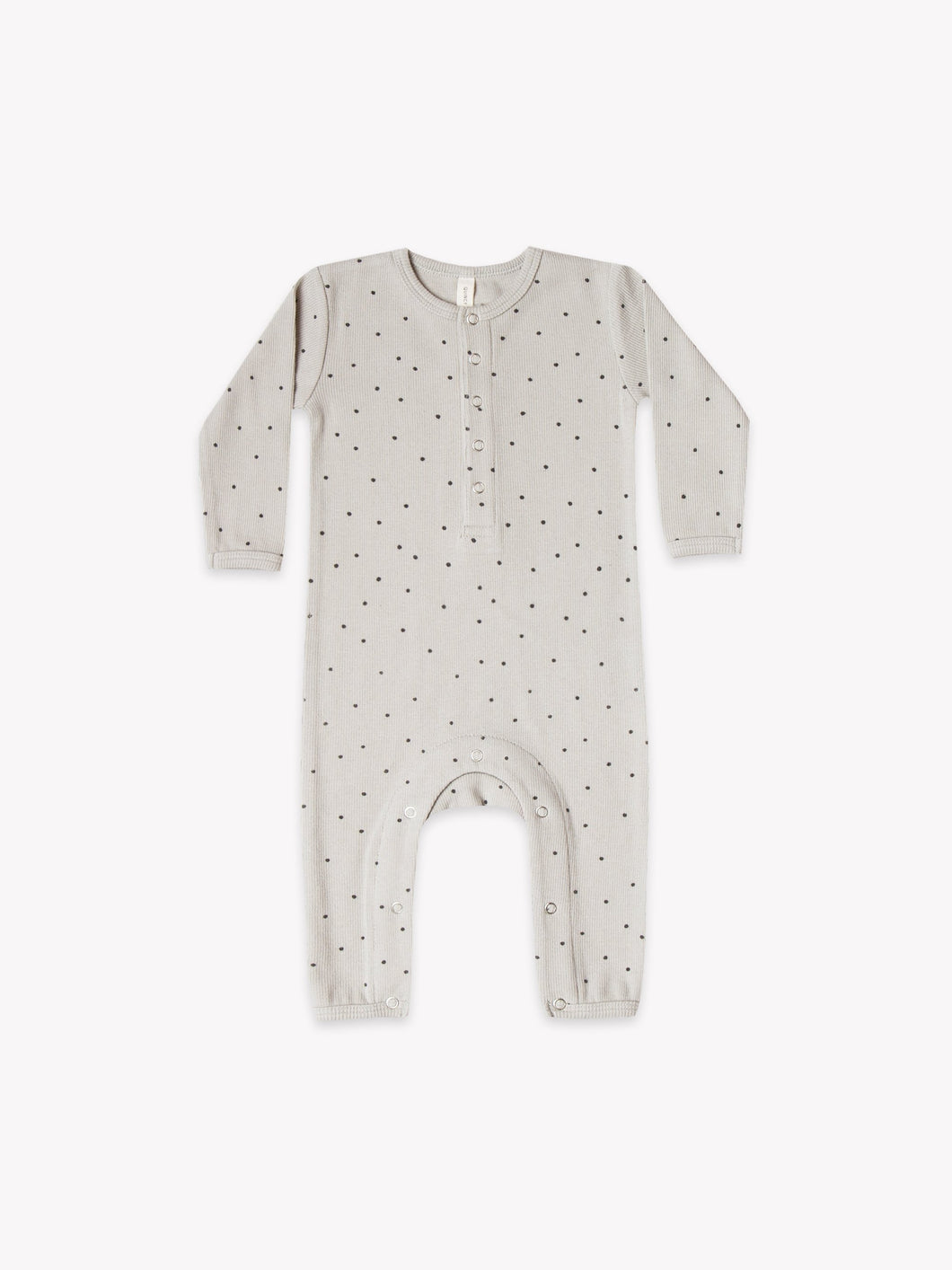 Quincy Mae - Ribbed Baby Jumpsuit - Dove
