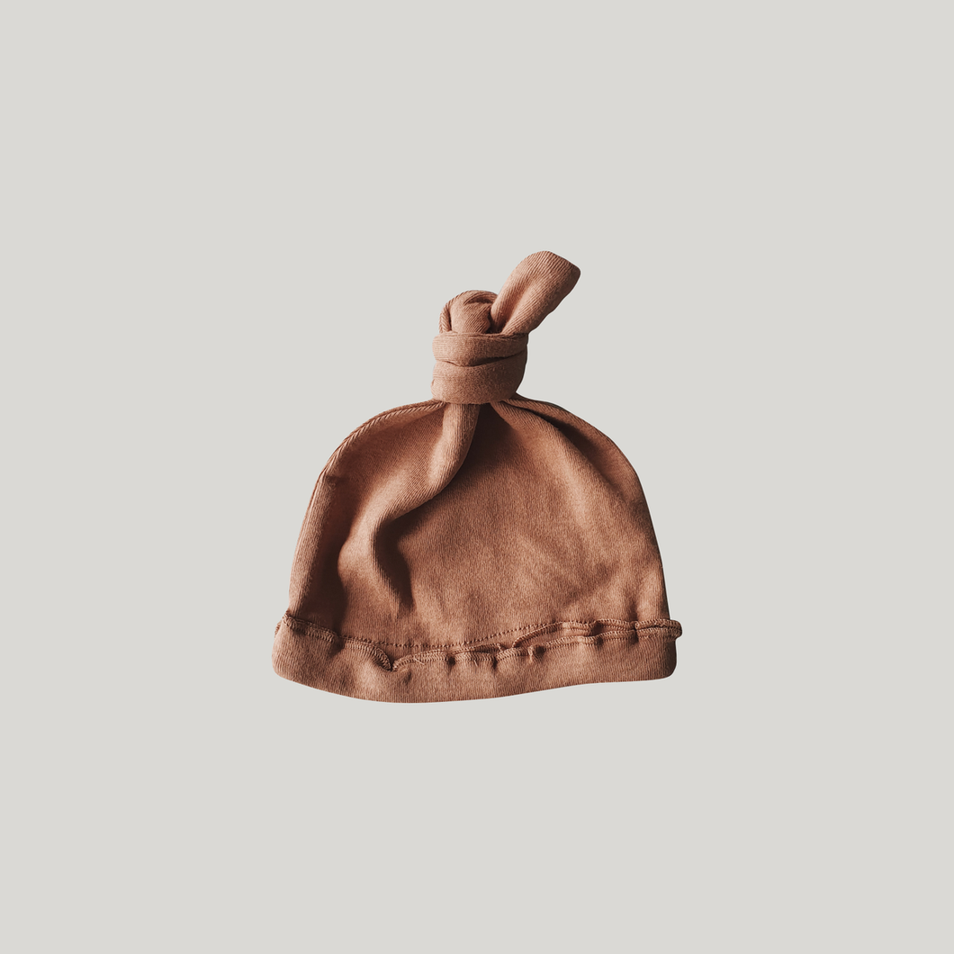 Susukoshi Knotted Hat - Terracotta