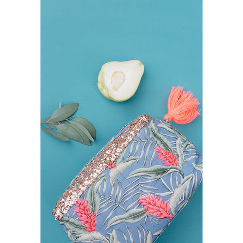 Louise Misha - Large Pocket Quilted Pouch - Lagoon Leave