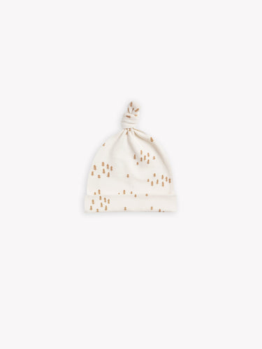 Quincy Mae Knotted Baby Hat - Ivory Tree