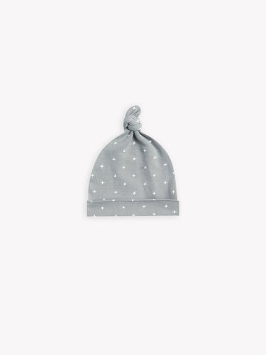 Quincy Mae Knotted Baby Hat - Dusty Blue