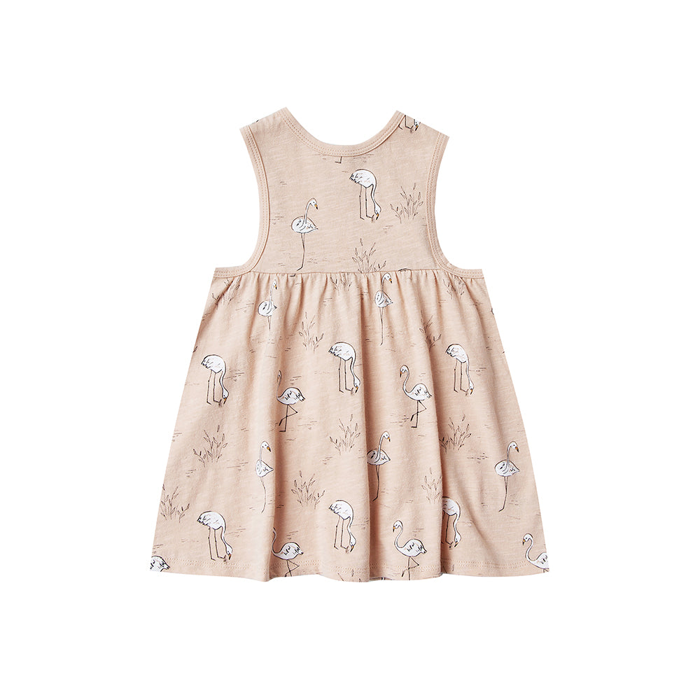 Rylee + Cru - Flamingos Layla Mini Dress - Blush