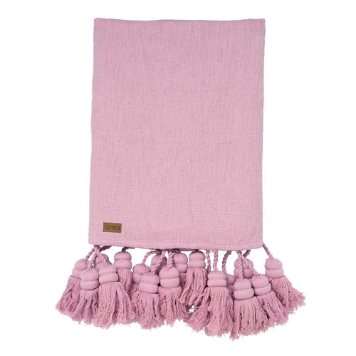 Kip & Co - Lilac Tassel Throw