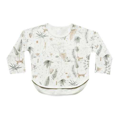 Rylee + Cru - Jungle Banded Longsleeve Tee - Coconut