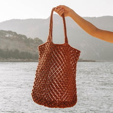 Load image into Gallery viewer, The Beach People Macrame Tote Bag - Rust