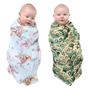 May Gibbs X Kip & Co Peek A Boo and Ocean Babes Swaddle Set