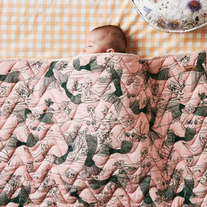 Kip & Co - Mermaids Quilted Bedspread - Cot