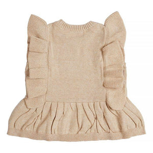 Miann & Co- Natural Frill Knit Top