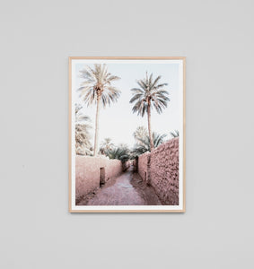 Framed Print- Moroccan Path