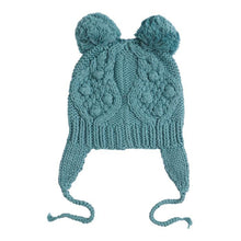Load image into Gallery viewer, Moss Green Pom Pom Beanie
