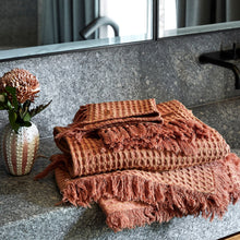 Load image into Gallery viewer, Kip & Co - Muted Clay Waffle Hand Towel