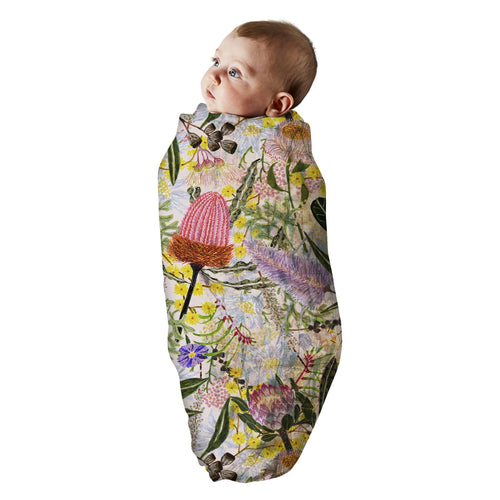 Kip & Co - Native Pink Bamboo Swaddle
