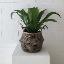 Load image into Gallery viewer, Barro Seagrass Basket- Natural/Black Weave