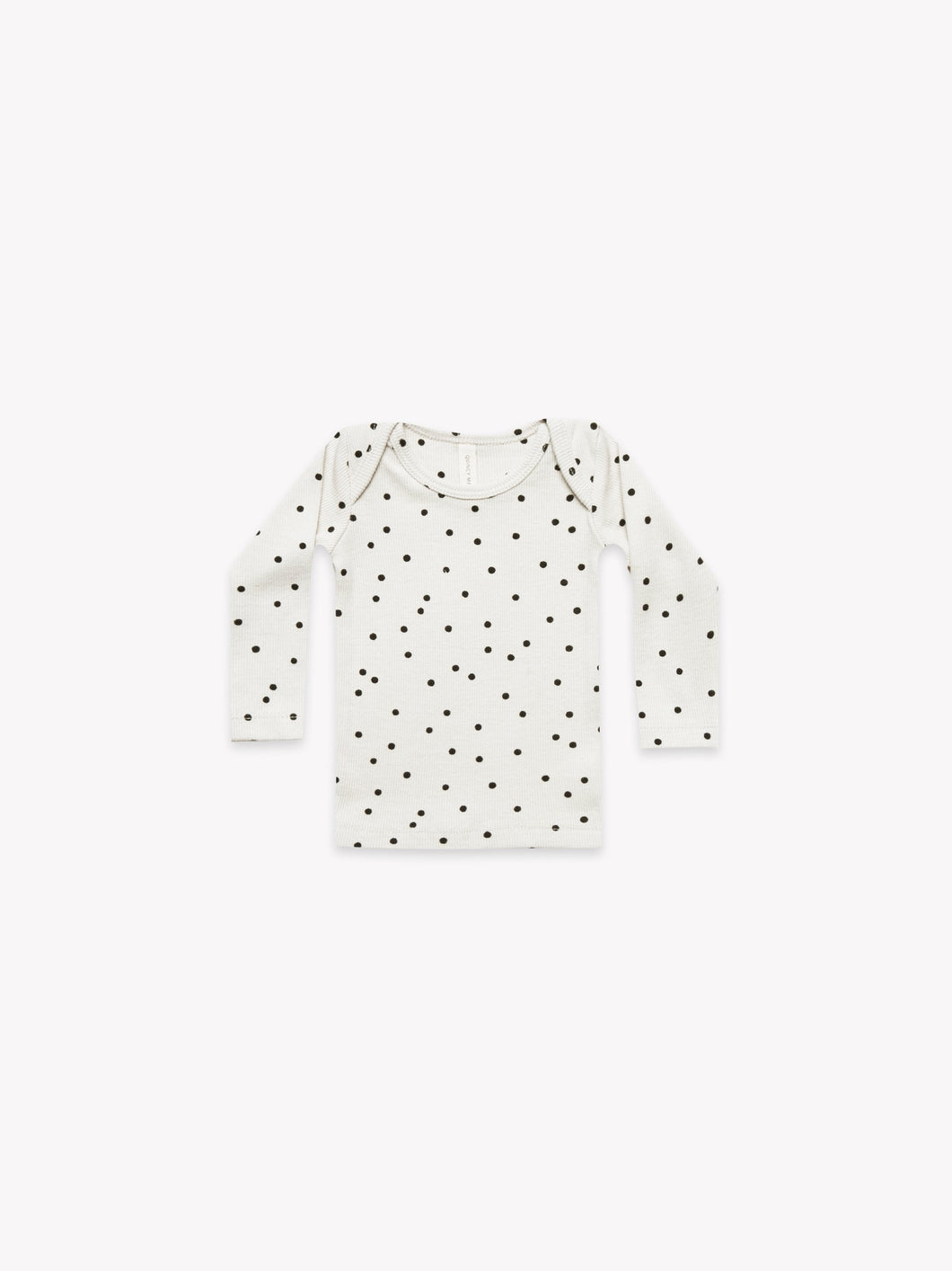 Quincy Mae - Ribbed LS Lap Tee Pebble