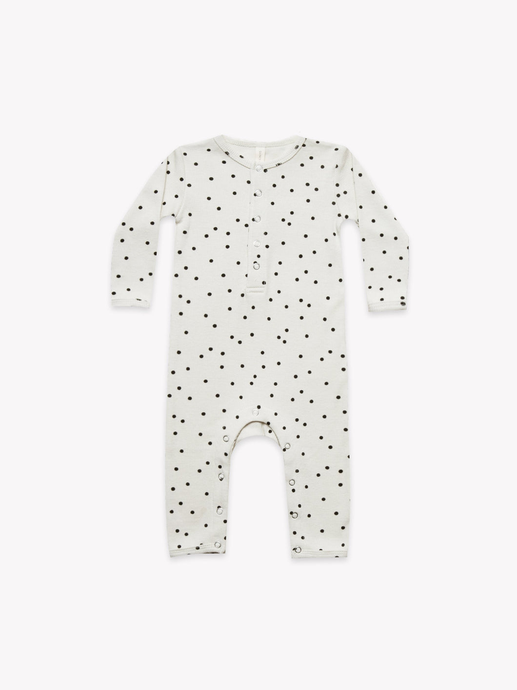 Quincy Mae - Ribbed Baby Jumpsuit Pebble
