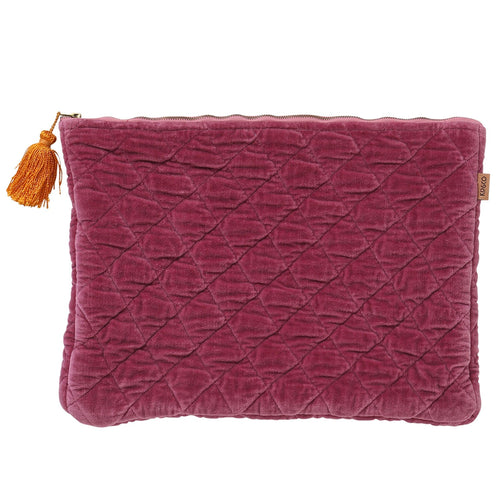 Kip & Co - Peony Rose Velvet Laptop Carry