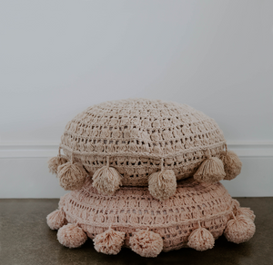 Miann & Co- Natural Pom Pom Cushion