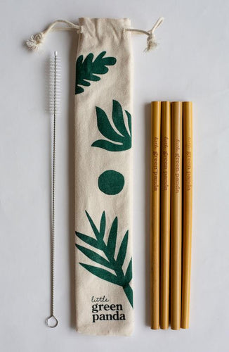 Reusable Bamboo Straws- 4 Pack