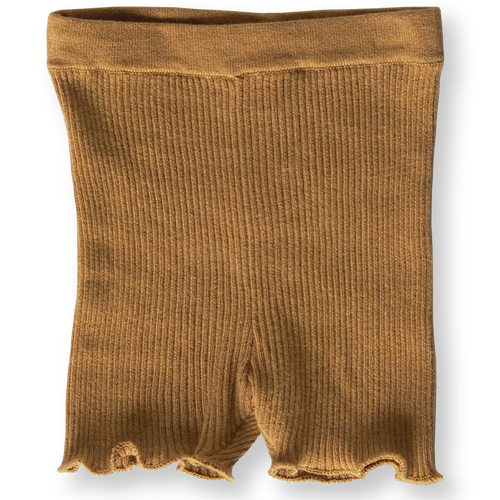 Grown Ribbed Bike Shorts - Harvest Gold