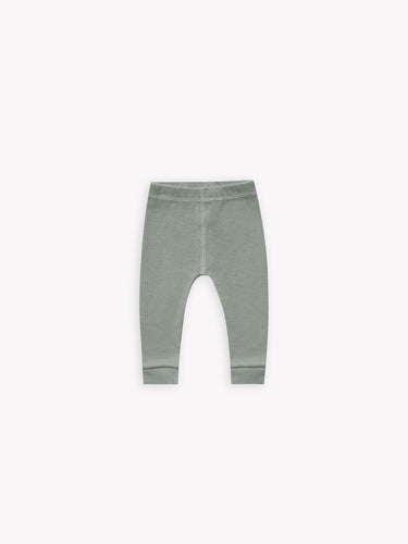 Quincy Mae Ribbed Legging - Eucalyptus