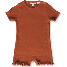 Load image into Gallery viewer, Grown Ribbed Romper - Rust