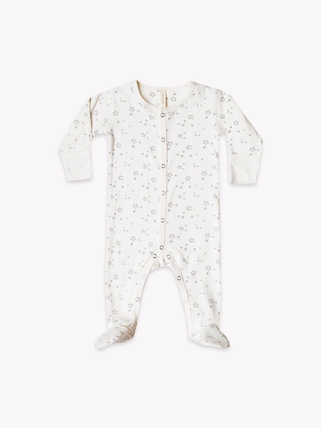 Quincy Mae - Long Sleeve Footed Romper - Ivory