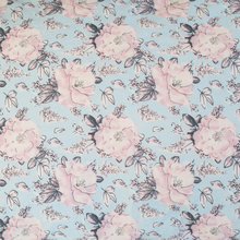 Load image into Gallery viewer, Rose Print Fitted Single Sheet