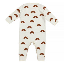 Load image into Gallery viewer, Miann & Co - Rust Rainbow Knit Babysuit