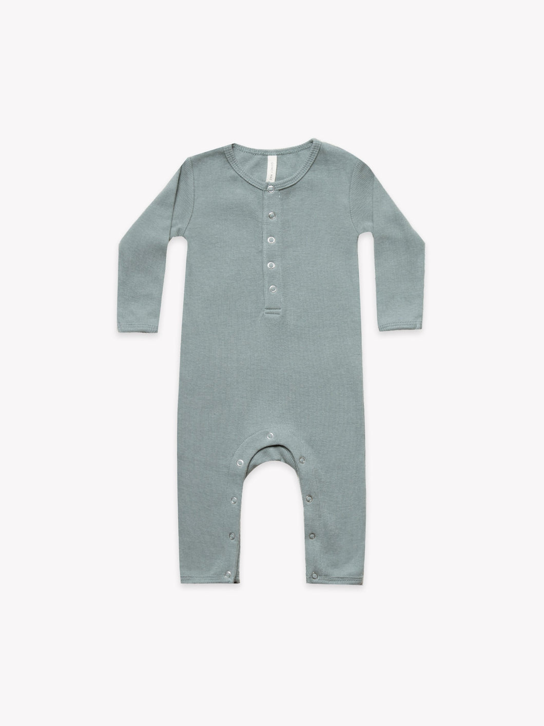 Quincy Mae - Ribbed Baby Jumpsuit Sea
