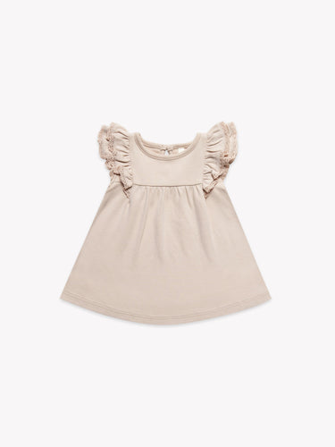 Quincy Mae - Short Sleeve Flutter Dress - Rose