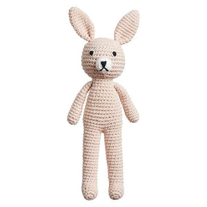 Mini Bunny Rattle - Soft Pink