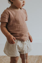 Load image into Gallery viewer, Thea Shorts- Oat Stripe