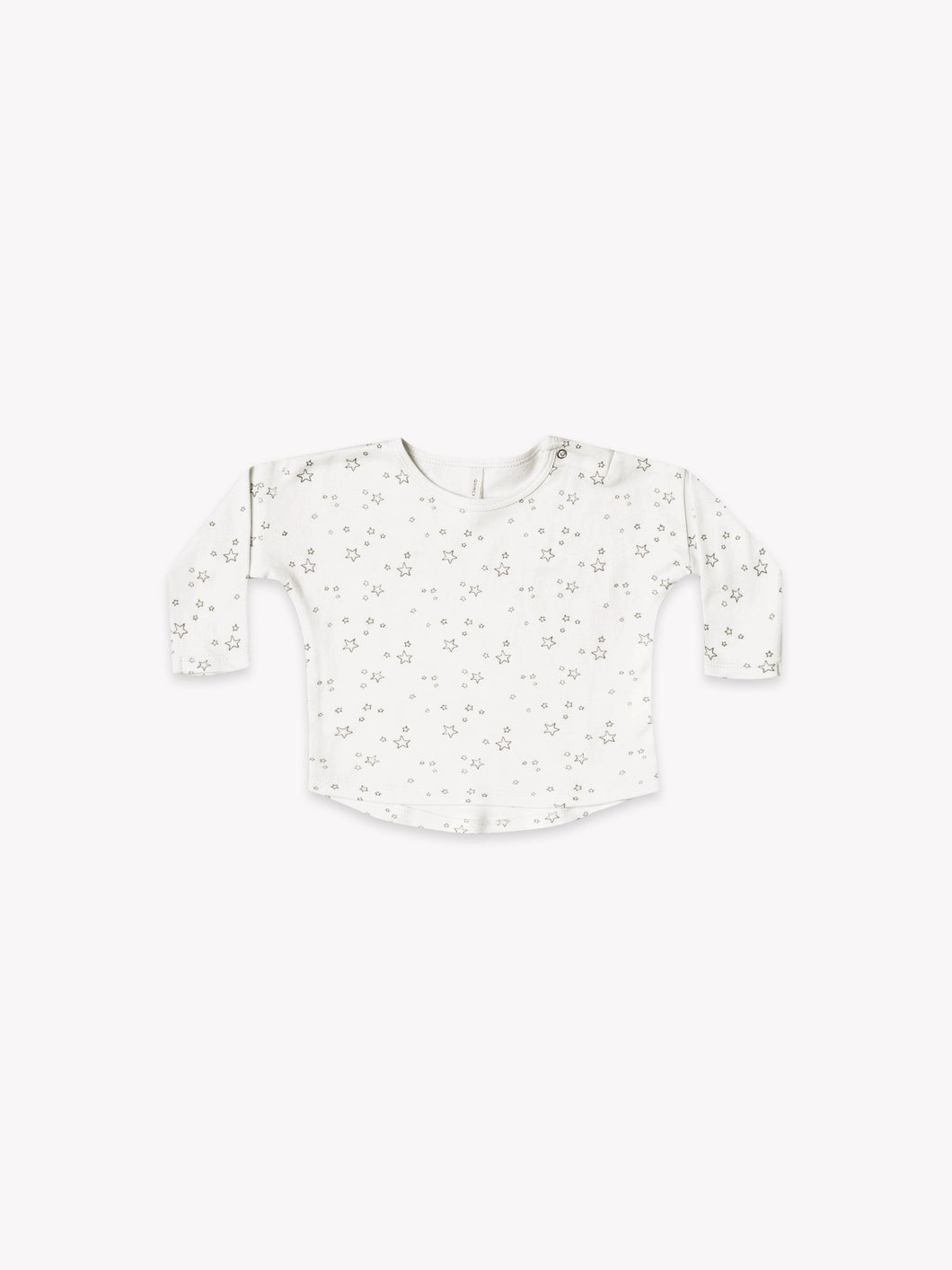 Quincy Mae - Long Sleeve Baby Tee - Ivory