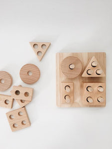 Lion and the Lamb - Eco Wooden Shape Sorter