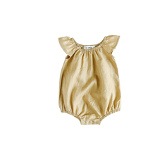 Load image into Gallery viewer, Two Darlings - Golden Linen Flutter Romper